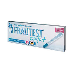 Фраутест комфорт тест для определения беременности в кассете-держателе с колпачком 2 шт.
