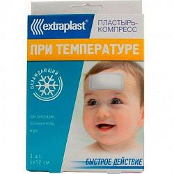 Экстрапласт пластырь охлаждающий при температуре 5х12см 2 шт.