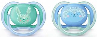 Авент ультра эйр пустышка силиконовая ортодонтическая для мальчиков 6-18 месяцев (scf344/22) 2 шт.
