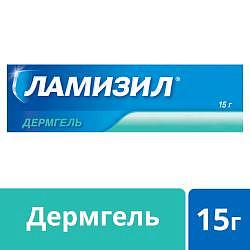 Ламизил дермгель для лечения грибка стопы, гель 1%, 15г
