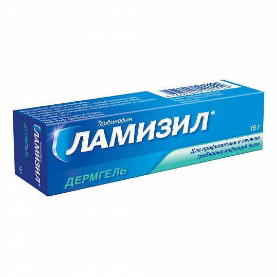 Ламизил дермгель для лечения грибка стопы, гель 1%, 15г, фото №2