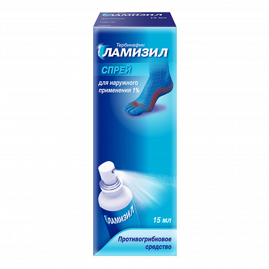 Ламизил спрей для лечения грибка стопы, спрей 1%, 15мл, фото №5