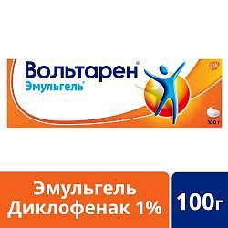 Вольтарен эмульгель при боли в спине, мышцах и суставах, гель 1%, 100г