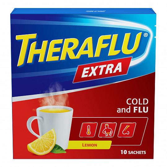 Терафлю экстра от гриппа и простуды, порошок, со вкусом лимона, 10 пакетиков, фото №5
