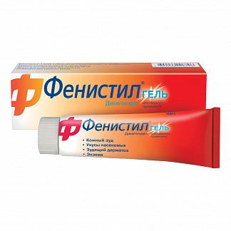 Фенистил гель от зуда и раздражения кожи, гель 0,1%, 100г