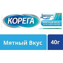 Корега экстра сильный мятный, крем для фиксации зубных протезов, 40г