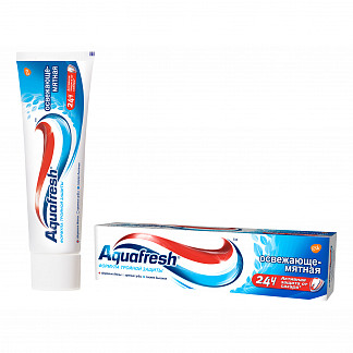 Аквафреш тройная защита освежающе-мятная, зубная паста, 50мл