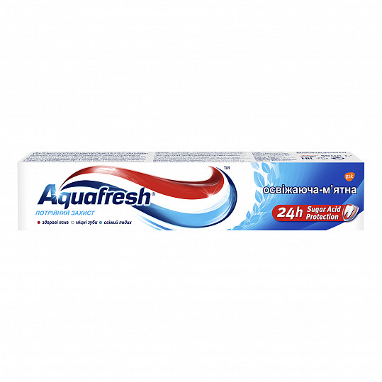 Аквафреш тройная защита освежающе-мятная, зубная паста, 50мл, фото №5