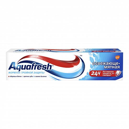Аквафреш тройная защита освежающе-мятная, зубная паста, 50мл, фото №8