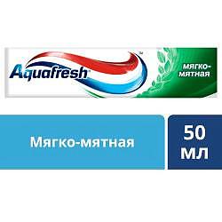 Аквафреш тройная защита мягко-мятная, зубная паста, 50мл