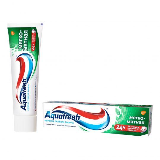 Аквафреш тройная защита мягко-мятная, зубная паста, 50мл, фото №1