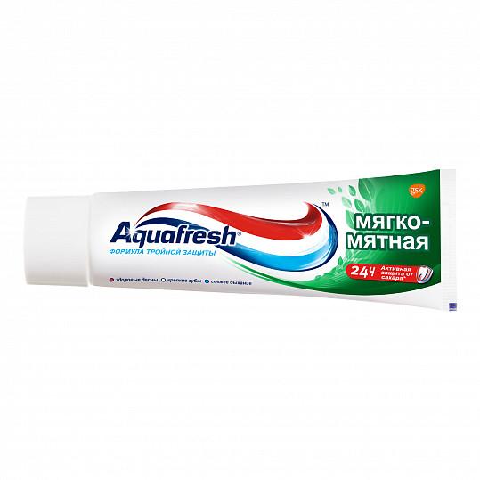 Аквафреш тройная защита мягко-мятная, зубная паста, 50мл, фото №2