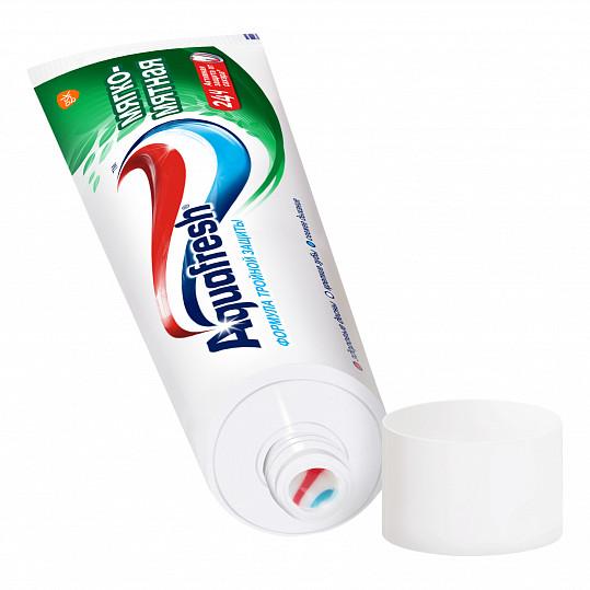 Аквафреш тройная защита мягко-мятная, зубная паста, 50мл, фото №4