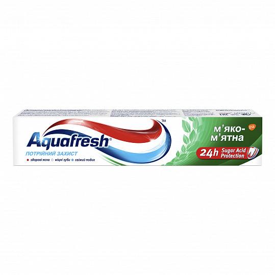 Аквафреш тройная защита мягко-мятная, зубная паста, 50мл, фото №5