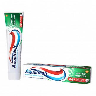 Аквафреш тройная защита мягко-мятная, зубная паста, 100мл