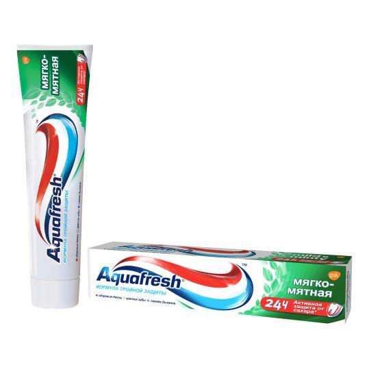 Аквафреш тройная защита мягко-мятная, зубная паста, 100мл, фото №1