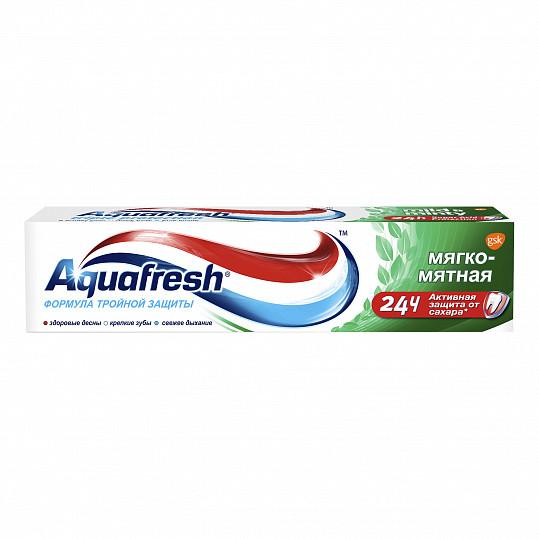 Аквафреш тройная защита мягко-мятная, зубная паста, 100мл, фото №7