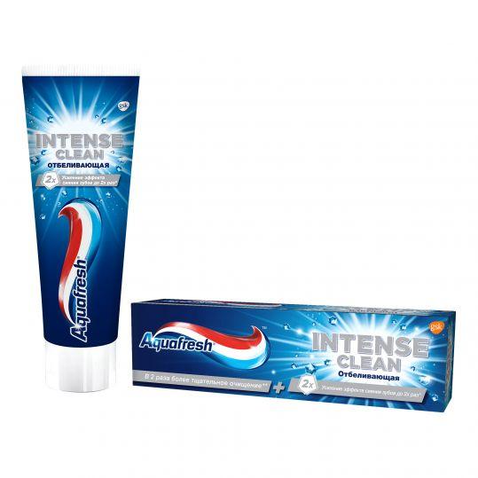 Аквафреш интенсивное очищение, отбеливание, отбеливающая зубная паста, 75мл, фото №1