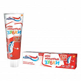 Аквафреш мои молочные зубки, зубная паста для детей от 3 до 5 лет, 50мл