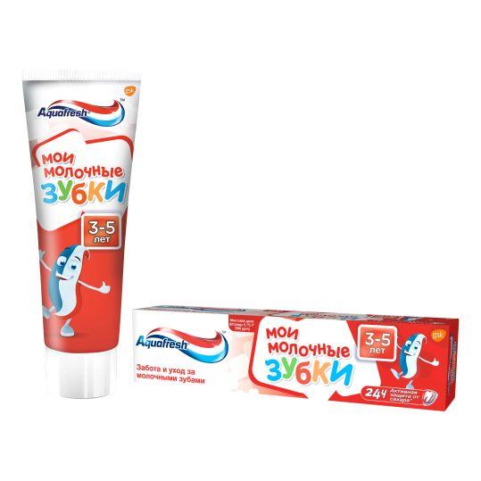 Аквафреш мои молочные зубки, зубная паста для детей от 3 до 5 лет, 50мл, фото №1