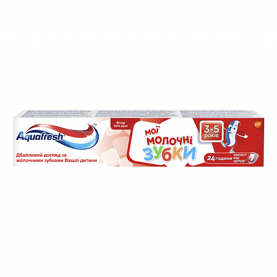 Аквафреш мои молочные зубки, зубная паста для детей от 3 до 5 лет, 50мл, фото №5