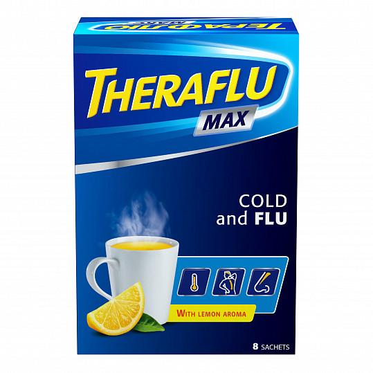 Терафлю макс от гриппа и простуды, порошок, 8 пакетиков, фото №5