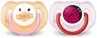 Авент пустышка силиконовая для девочек 6-18 месяцев (scf182/15) 2 шт.