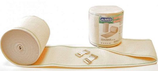 Альмед бинт эластичный медицинский компрессионный ср 80ммх2м с застежкой, фото №1
