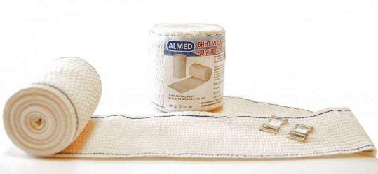Альмед бинт эластичный медицинский компрессионный ср 80ммх5м с застежкой, фото №1