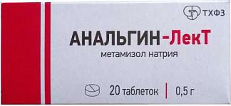 Анальгин-лект 500мг 20 шт. таблетки