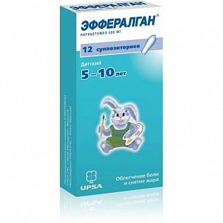 Эффералган 300мг 12 шт. суппозитории ректальные для детей