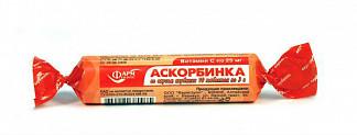 Аскорбинка таблетки жевательные клубника 3г 10 шт. крутка
