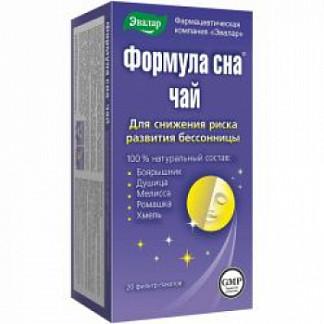 Формула сна чай 1,5г 20 шт. фильтр-пакет эвалар