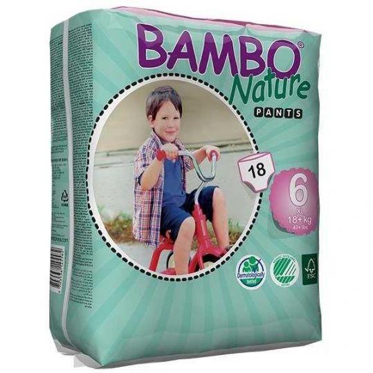 Бамбо натур пэнтс подгузники-трусы xl размер 6 18+кг 18 шт., фото №1