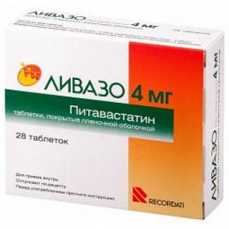 Ливазо 4мг 28 шт. таблетки покрытые пленочной оболочкой