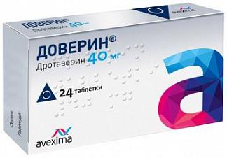 Доверин 40мг 24 шт. таблетки