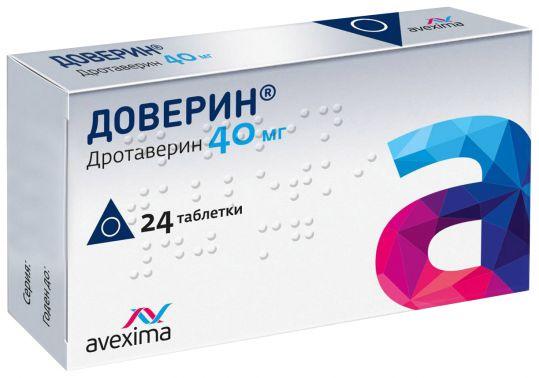Доверин 40мг 24 шт. таблетки, фото №1