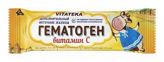 Витатека гематоген с витамином с 40г