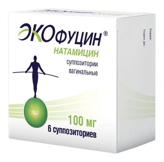 Экофуцин 100мг 6 шт. суппозитории вагинальные, фото №1