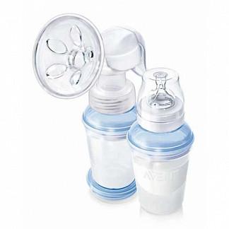 Авент натурель набор для кормления n84 (молокоотсос ручной 86530 + бутылочка 260мл)