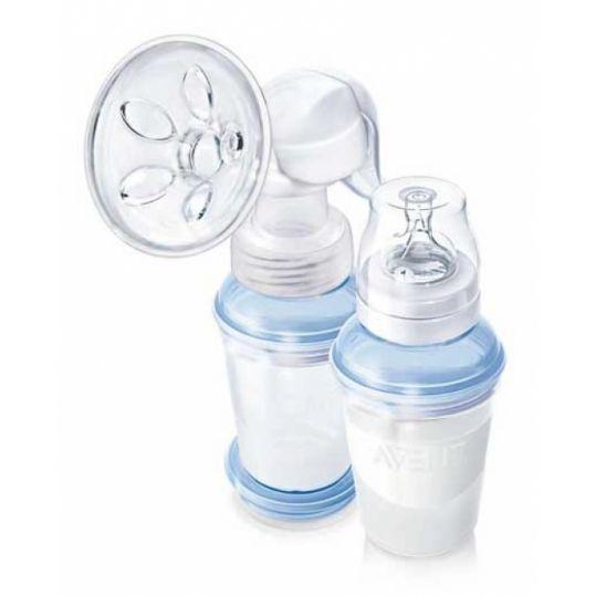 Авент натурель набор для кормления n84 (молокоотсос ручной 86530 + бутылочка 260мл), фото №1