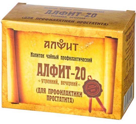 Алфит 20 при простатите фитосбор утренний/вечерний 2г 60 шт., фото №1