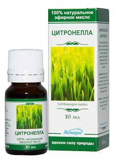 Аспера масло эфирное цитронелла 10мл