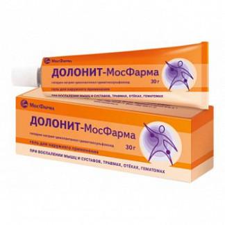 Долонит-мосфарма 30г гель для наружного применения