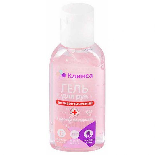 Клинса гель для рук антисептический с маслом макадамии и витамином е 60мл химсинтез, фото №1