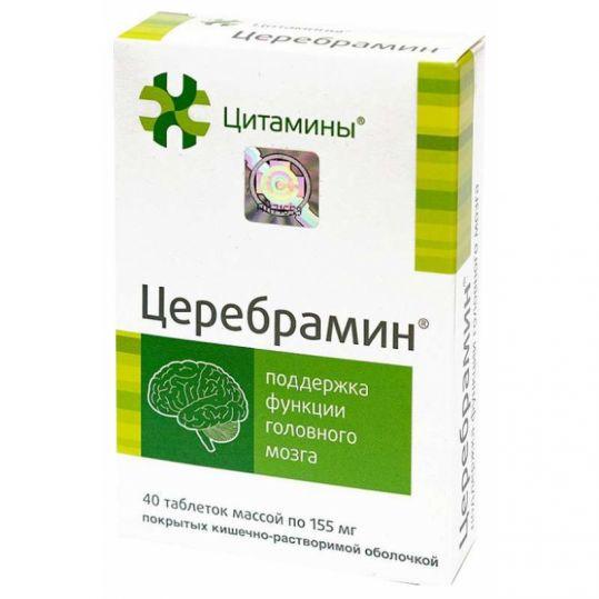 Церебрамин таблетки 40 шт. клиника института биорегуляции и геронто, фото №1