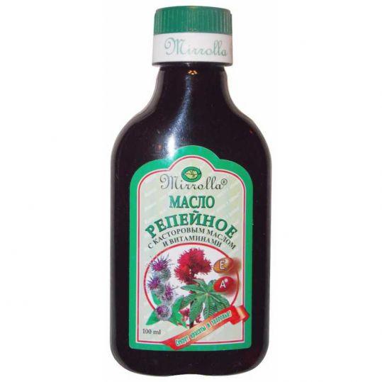 Мирролла масло репейное касторовое масло/витамины 100мл, фото №1