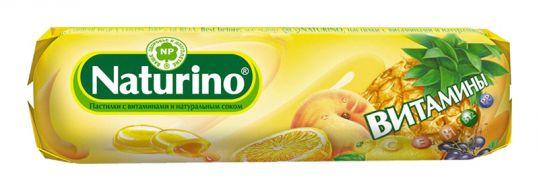 Натурино с витаминами и натуральным соком пастилки фрукты 36,4г, фото №1