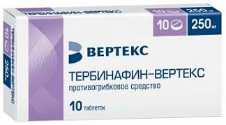Тербинафин-вертекс 250мг 10 шт. таблетки