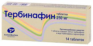 Тербинафин канон 250мг 14 шт. таблетки